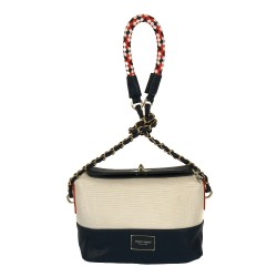 Bílo-modrá dámská kabelka MONNARI  MON 1870 W15