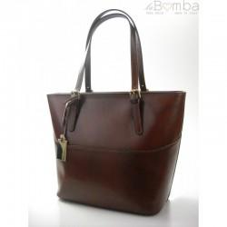 Bordó dámská kožená kabelka VERA PELLE T88M