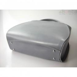 Šedá dámská kožená kabelka VERA PELLE K12G