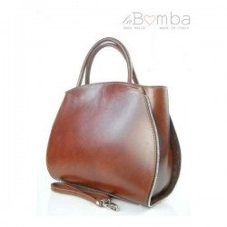 Hnědá (tmavá) dámská kožená kabelka VERA PELLE K12M