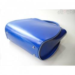 Modrá (světlá) dámská kožená kabelka VERA PELLE  K12BS