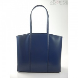 Modrá dámská kožená kabelka BORSE IN PELLE T99BS