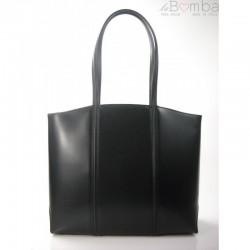Černá dámská kožená kabelka BORSE IN PELLE T99N