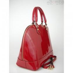 Červená dámská kožená kabelka VERA PELLE  KL5R