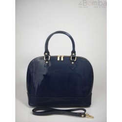 Modrá dámská kožená kabelka VERA PELLE KL5BS