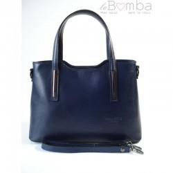 Modrá dámská kožená kabelka VERA PELLE  V17BS