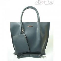 Šedá dámská kožená kabelka la BOMBA SB4020G