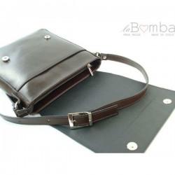 Hnědá pánská kožená crossbody taška LVP119TM