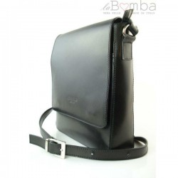 Černá pánská kožená crossbody taška LVP119N