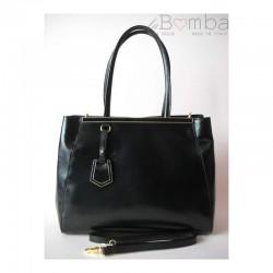 Černá  dámská kožená kabelka VERA PELLE K77N