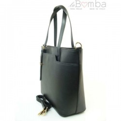 Černá dámská kožená kabelka VERA PELLE GL35N
