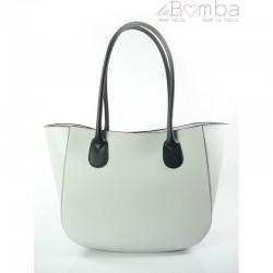 Bílá dámská kožená kabelka VERA PELLE GL44GN