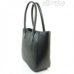 Černá dámská kožená kabelka VERA PELLE GL44N