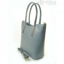 Šedá dámská kožená kabelka VERA PELLE VP47G