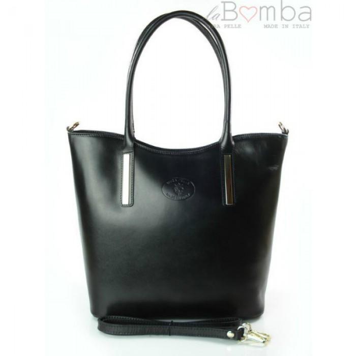 EBIES.CZ - Černá dámská kožená kabelka VERA PELLE VP47N 0cfe35db19c