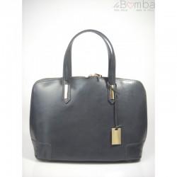 Šedá dámská kožená kabelka VERA PELLE  K1G