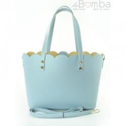 Modrá (světlá) dámská kožená kabelka VERA PELLE SB444BB