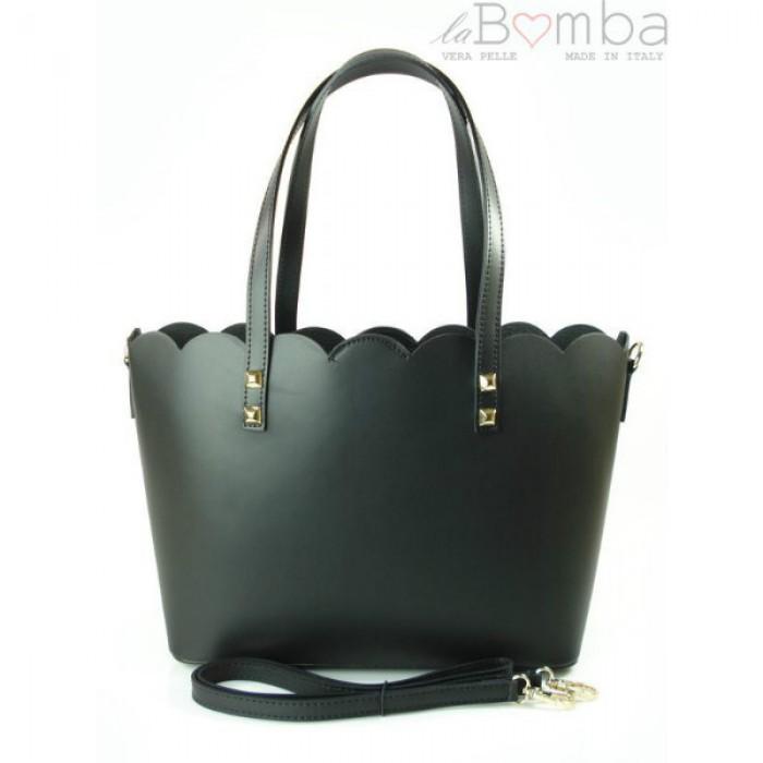 3fc1046039 EBIES.CZ - Černá dámská kožená kabelka VERA PELLE SB444N