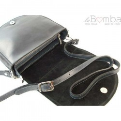 Šedá dámská kožená kabelka VERA PELLE LVP115G