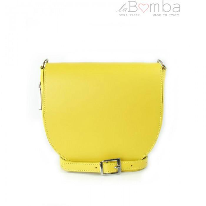 EBIES.CZ - Žlutá dámská kožená kabelka VERA PELLE LVP115GL 309ba0520d3