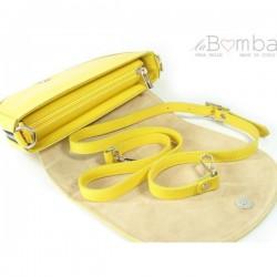 Žlutá dámská kožená kabelka VERA PELLE LVP115GL