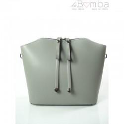 Šedá dámská kožená kabelka VERA PELLE LVP122G