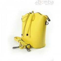 Žlutá dámská kožená kabelka VERA PELLE LVP122GL