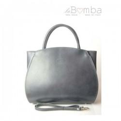 Šedá (tmavá) dámská kožená kabelka VERA PELLE K12G
