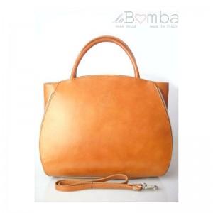 Hnědá dámská kožená kabelka VERA PELLE K12C