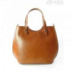 Hnědá dámská kožená kabelka BORSE IN PELLE SB4116C