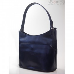 Modrá dámská kožená kabelka VERA PELLE  V13BS